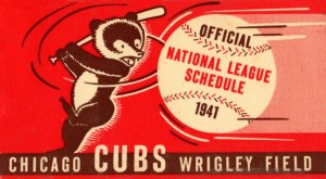 1941_Major League Baseball_Chicago Cubs_Wrigley Field Art by Row One Brand