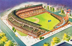 1941_Wrigley_Field_Chicago_Cubs_Stadium_Art by Row One Brand