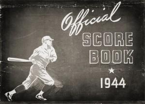 1944 Baseball Score Book Remix Art by Row One Brand