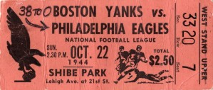 1944_National Football League_Boston Yanks vs. Philadelphia Eagles_Shibe Park_Row One by Row One Brand