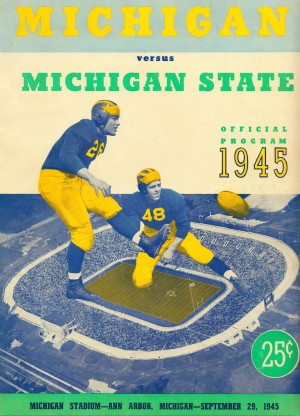 1945 michigan state michigan program by Row One Brand
