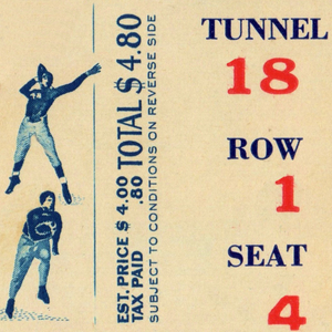1945 Football Ticket Stub Remix Art by Row One Brand