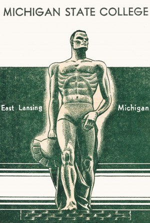 1946 michigan state college east lansing art by Row One Brand