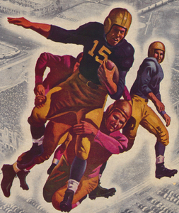 1947 Vintage Football Running Back Art by Row One Brand