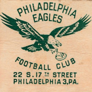 1948 NFL Season_Philadelphia Eagles_Football Club Art_22 S. 17th Street Philadelphia PA Address by Row One Brand