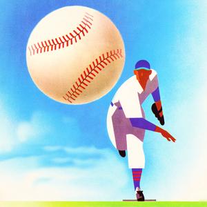 1950 Vintage Baseball Art Remix by Row One Brand