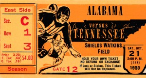 1950 tennessee vols football by Row One Brand