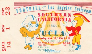1950 usc ucla los angeles la coliseum college football sports art by Row One Brand