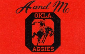 1950s oklahoma am aggies college art by Row One Brand