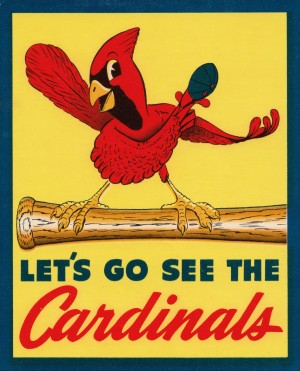 Vintage St. Louis Cardinals Baseball Art by Row One Brand