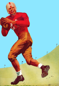 1951 Football QB Blue Sky Art by Row One Brand