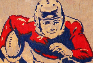 1951 Vintage Football Art by Row One Brand