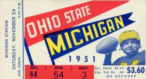 1951 Ohio State vs. Michigan by Row One Brand
