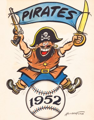 1952 pittsburgh pirates artist cy hungerford by Row One Brand