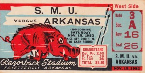 1952 SMU vs. Arkansas by Row One Brand