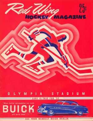1952_Detroit_Red_Wings_Hockey_Magazine_Olympia_Stadium_Buick_Car_Ad_Vintage_Advertising_Row_One by Row One Brand