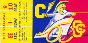 1953_College_Football_California vs. Southern Cal_California Memorial Stadium by Row One Brand