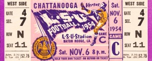 1954 lsu tigers football by Row One Brand