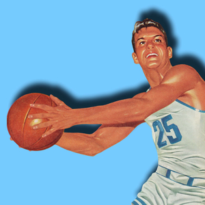 1956 Vintage Basketball Art by Row One Brand