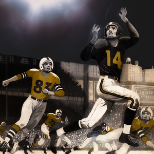 1956 Night Game Football Art by Row One Brand