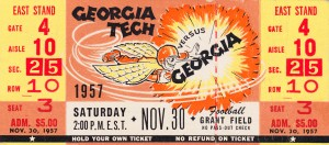 1957 Georgia vs. Georgia Tech Yellow Jackets by Row One Brand