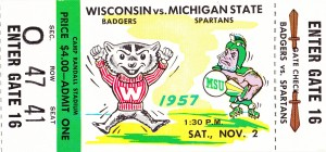 1957_College_Football_Wisconsin vs. Michigan State_Camp Randall Stadium_Madison by Row One Brand