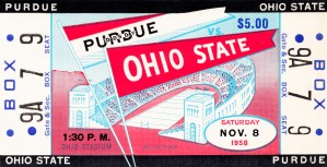 1958 Ohio State vs. Purdue by Row One Brand