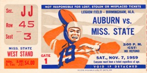 1959 Auburn vs. Mississippi State by Row One Brand
