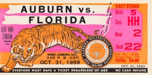 1959 Auburn vs. Florida by Row One Brand