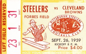 1959_National Football League_Cleveland Browns vs. Pittsburgh Steelers_Forbes Field by Row One Brand