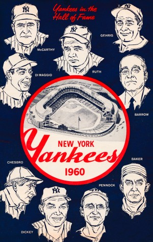 1960 New York Yankees In The Hall Of Fame Art by Row One Brand