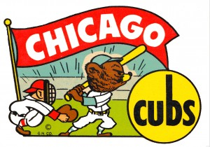 1960s chicago cubs art by Row One Brand