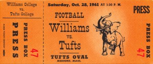 1961 william tufts college football ticket art medford mass by Row One Brand