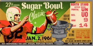1961_College_Football_Sugar Bowl_Ole Miss vs. Rice_New Orleans_Row One by Row One Brand
