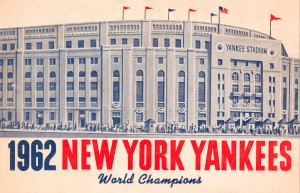 1962 new york yankees world champions by Row One Brand