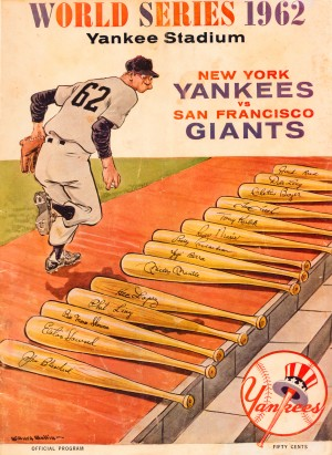 1962 Yankees World Series Program by Row One Brand