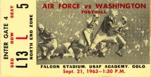 1963 Washington vs. Air Force  by Row One Brand