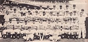 1963 la dodgers world champions team photo by Row One Brand