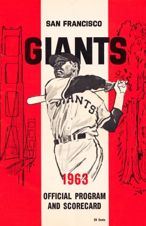 1963 san francisco giants scorecard poster by Row One Brand