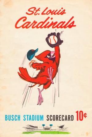 1963 stl louis cardinals scorecard may 17 busch stadium 11 2 win by Row One Brand