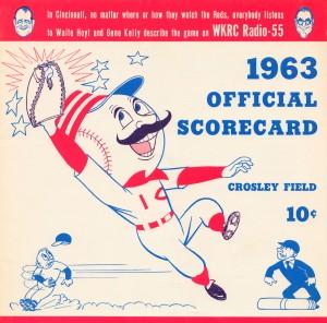 1963_Baseball_Scorecard_Cincinnatti_Reds_Crosley_Field_Ohio_Metal_Sign by Row One Brand