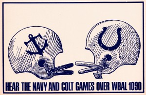 1964 baltimore colts navy wbal radio 1090 vintage ad by Row One Brand