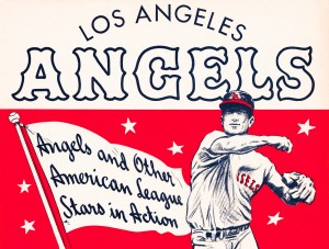 1964 los angeles angels vintage baseball metal sign sports art on wood row one retro brand by Row One Brand