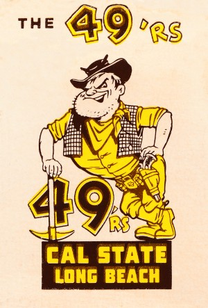 1965 cal state long beach 49ers art  by Row One Brand