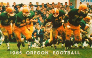 1965 oregon duck football art by Row One Brand