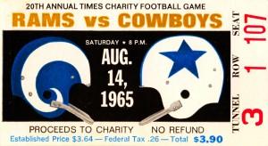 1965 Rams vs. Cowboys by Row One Brand