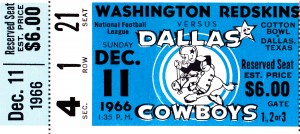 1966 Washington vs. Dallas by Row One Brand
