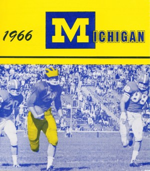 1966 michigan football art by Row One Brand