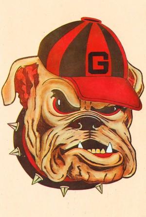 1966 vintage georgia bulldog mascot art by Row One Brand