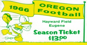 1966 Oregon Duck Season Ticket by Row One Brand